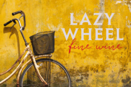 Lazy Wheel wine branding
